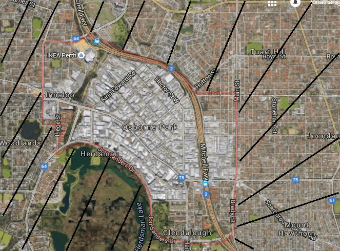 osborne-park-wa-map